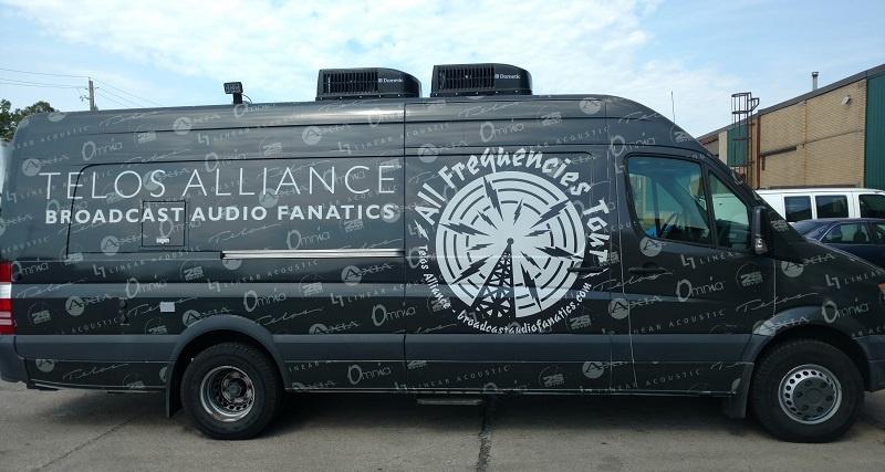 Broadcast Audio Fanatics Van ready for 2017 Omnia Tour