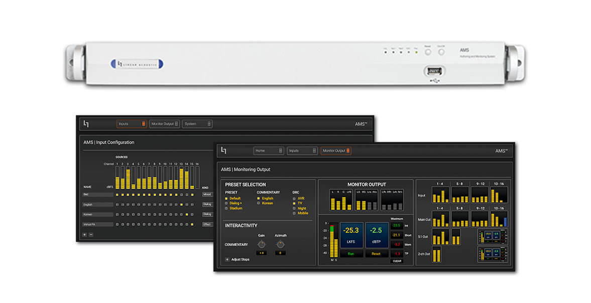 Linear Acoustic AMS Authoring and Monitoring System