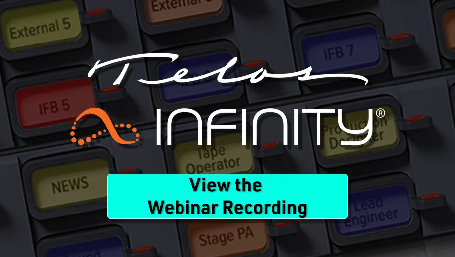 Infinity View The Webinar Button