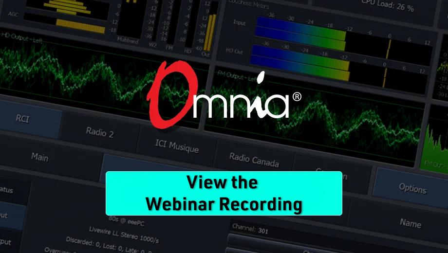 Omnia Webinar View Recording